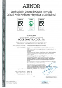 Certificado Sistema de Gestion Integrada - 2017