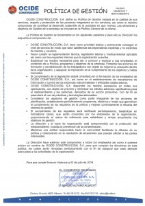 POLITICA GESTION ed05 - vigor